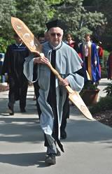 UBC Okanagan University Mace - Dr. Piotr Wrzesniewski, Mace Bearer